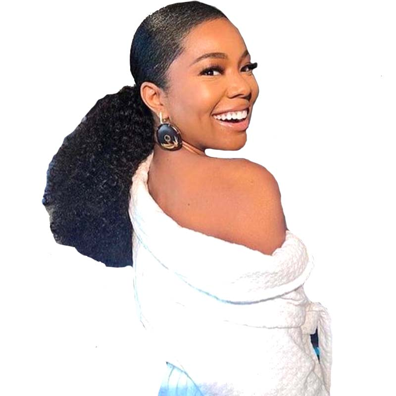 Natural Brazilian Hair Kinky Curl Ponytail for Black Women Surprisehair