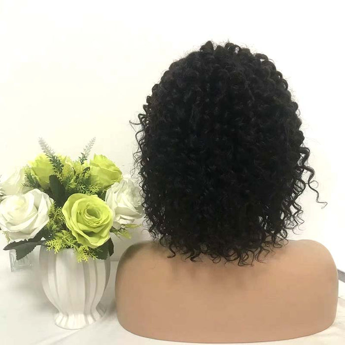 black big loose wave short human hair lacewig
