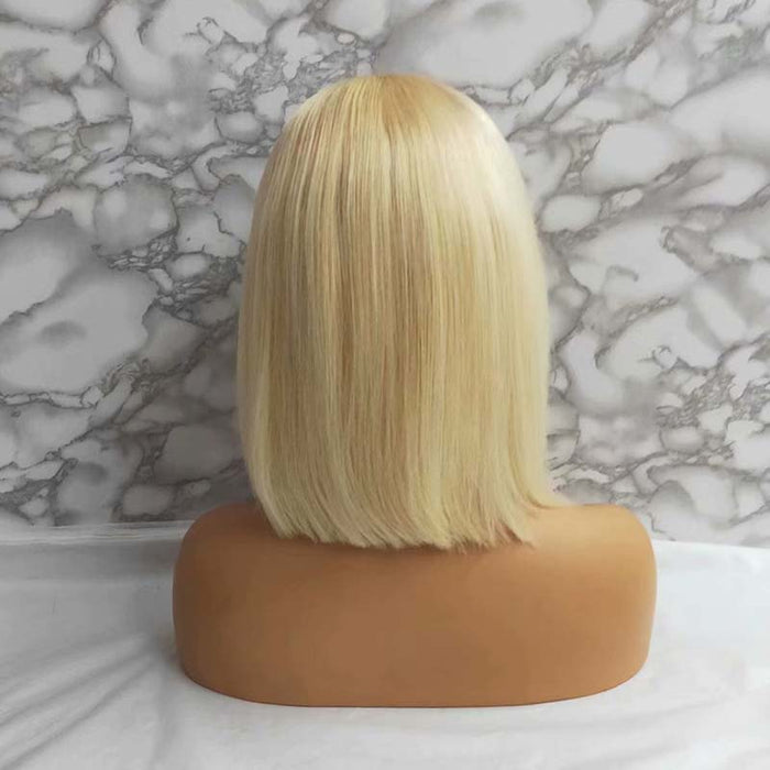 lace front wig bob 613 color