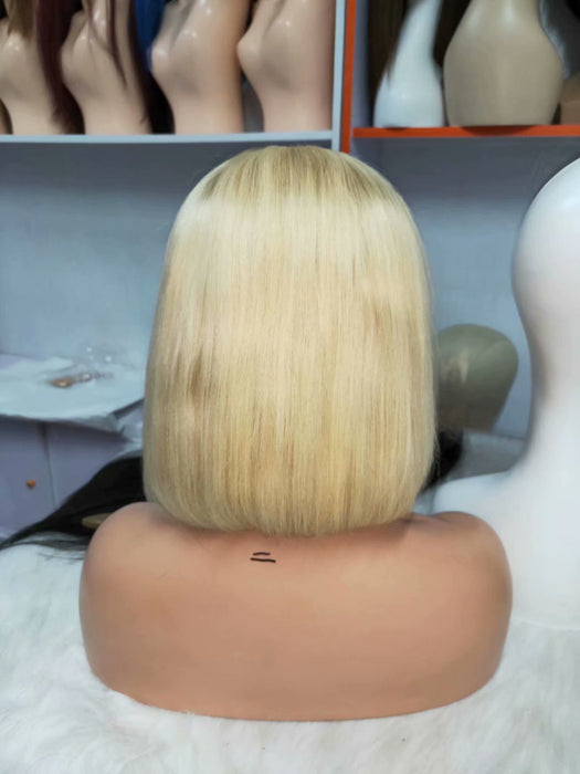 blonde ombre curly lace front wig