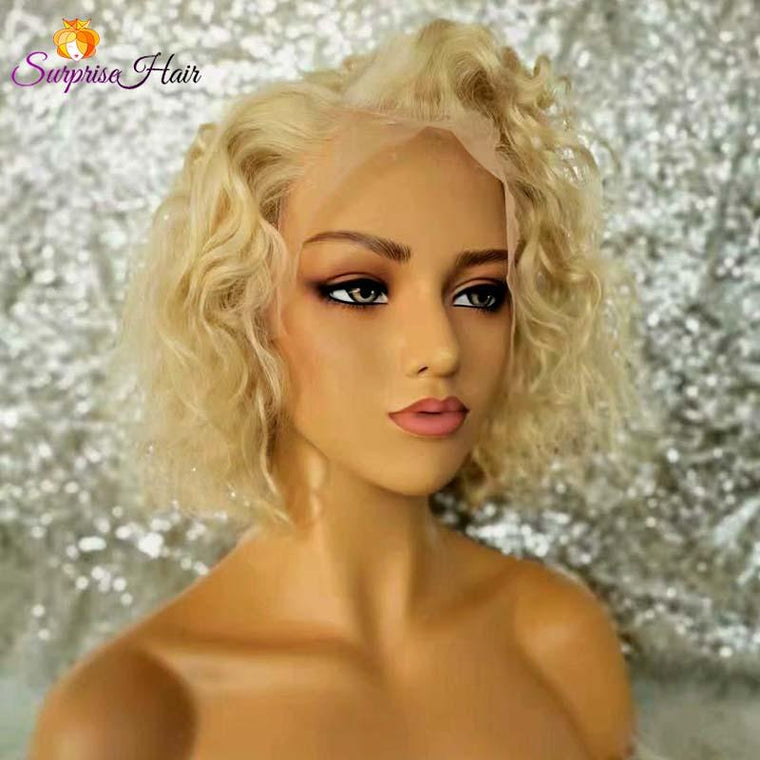 #613 Middle Length curly bob Wig