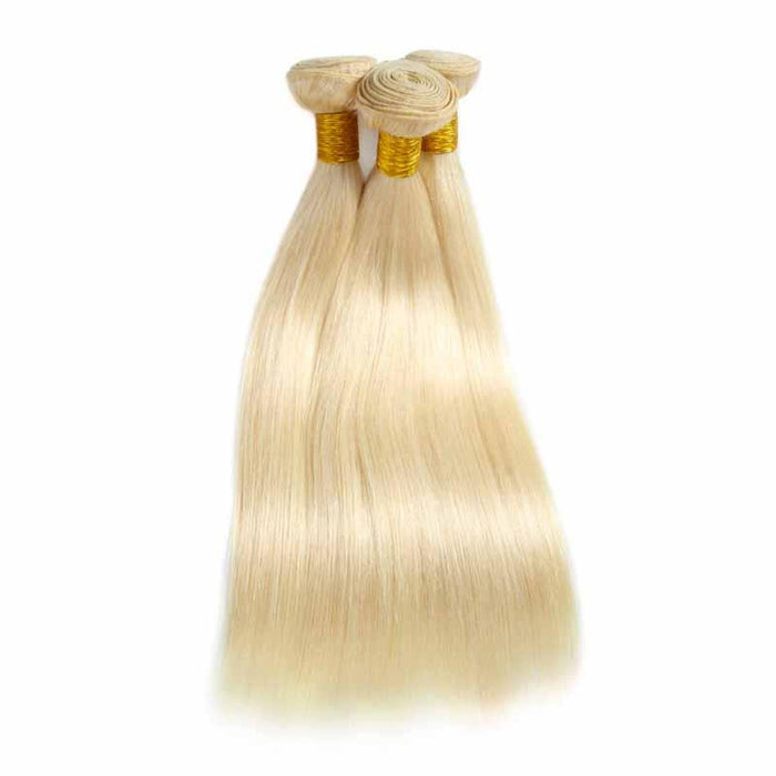 Brazilian hair bundles blonde straight