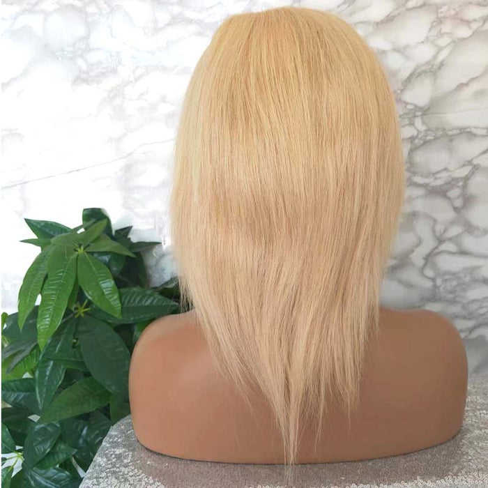 blonde hair lace frontal wig human hair