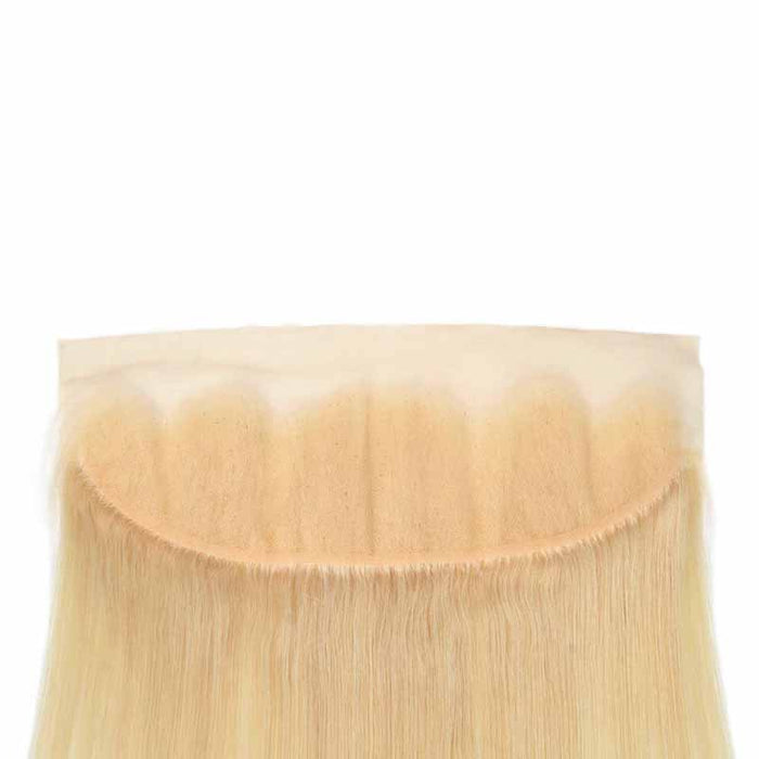 straight blonde lace front human hair
