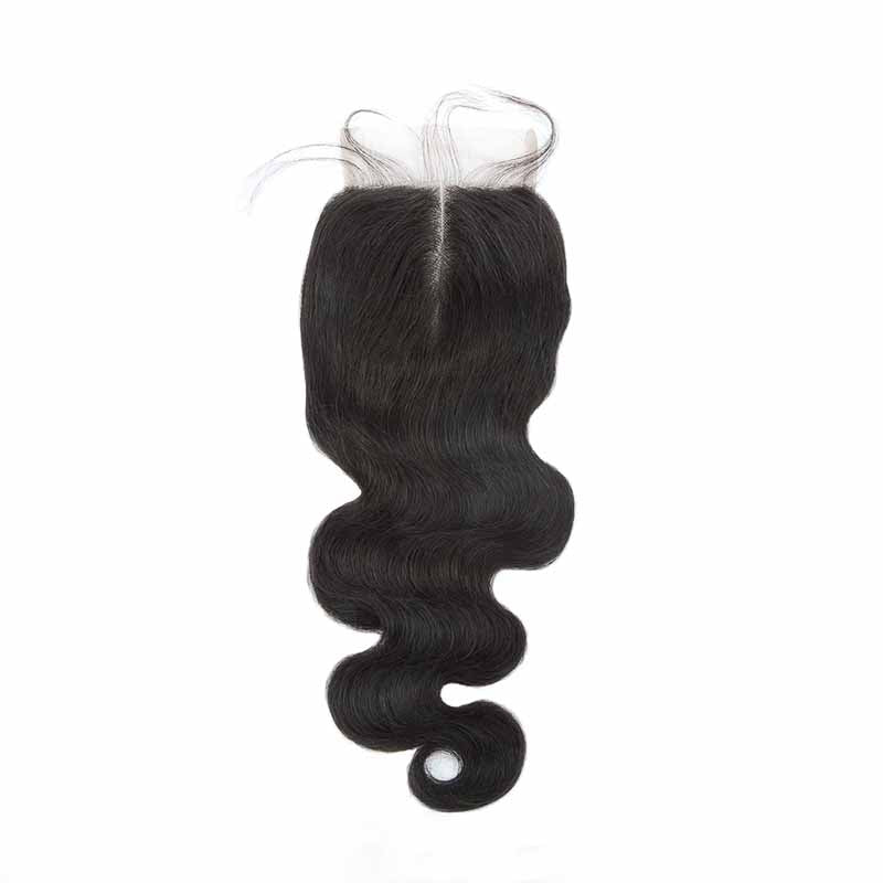 Surprisehair Peruvian Body Wave Lace Closure Middle Part Human Hair