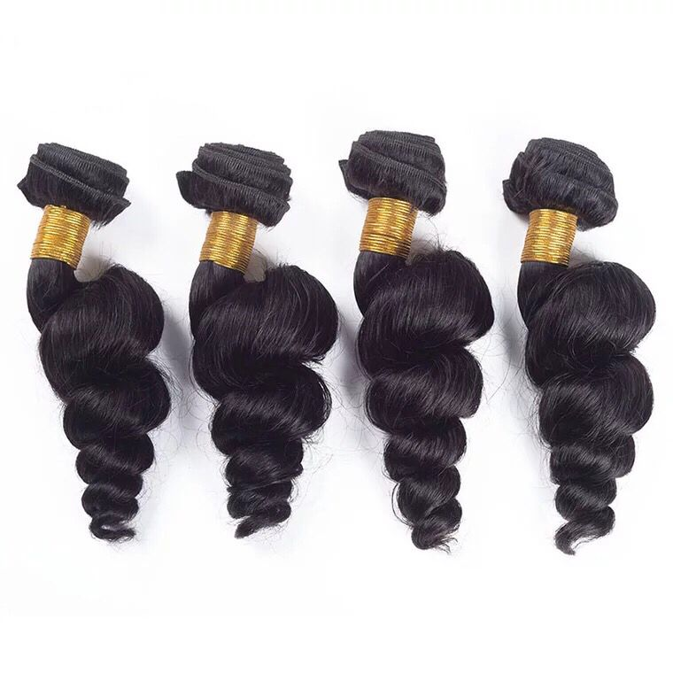 brazilian hair loose wave bundles 4pc deal