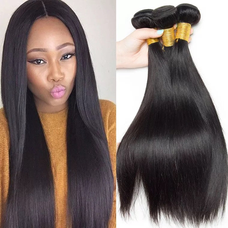 SurpriseHair 9A Brazilian Hair Straight Virgin Human Hair 3 Bundles