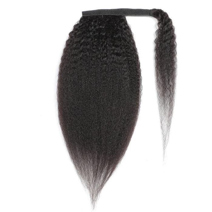 brazilian human hair yaki straight ponytail