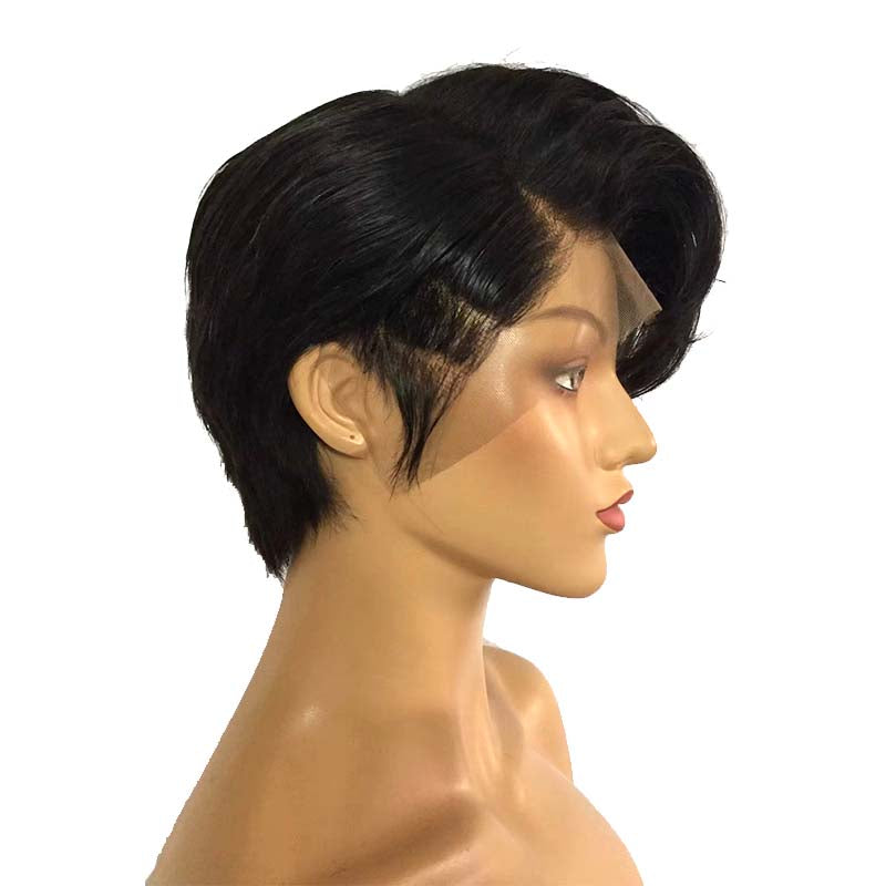 cool pixie cut brazilian hair wig