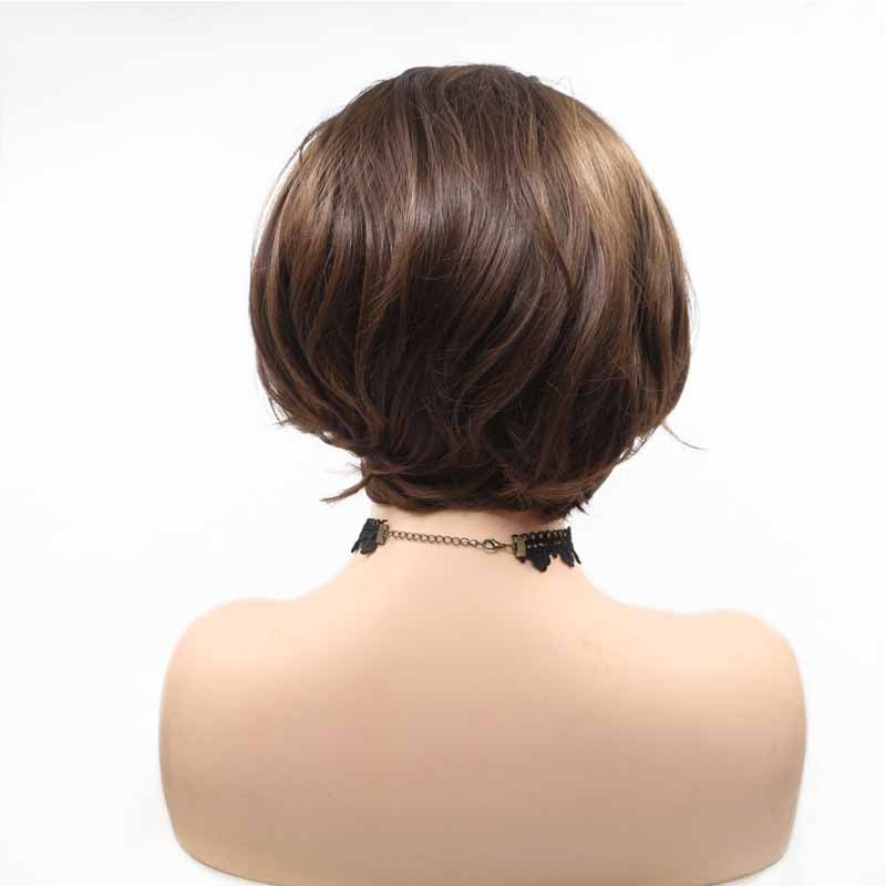Surprisehair Short Dark Brown Synthetic Wig Bob 8inch Lace Front Wig For Sale Surprisehair