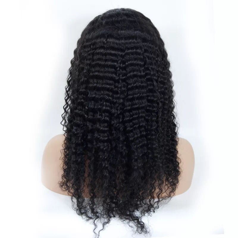 full lace wig deep wave human hair