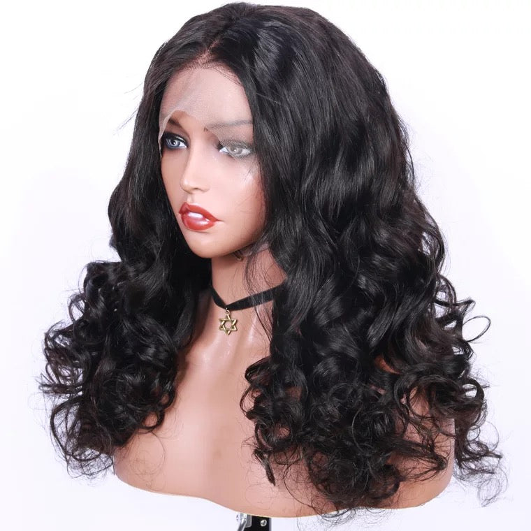 SurpriseHair Full Lace Wig Loose Wave Middle Part With Baby Hair 130% Density Online