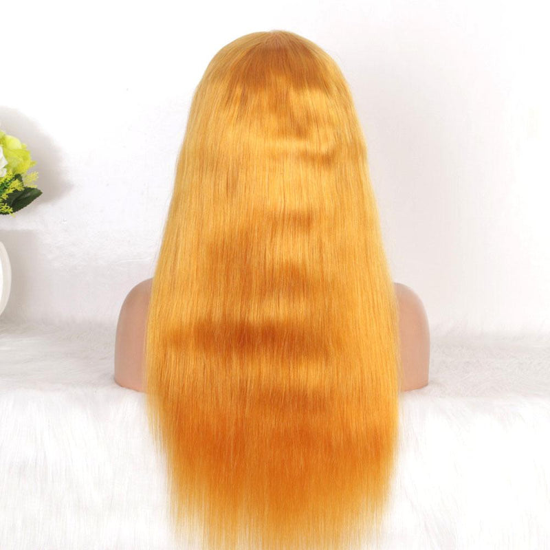 straight lace frontal wig gold color