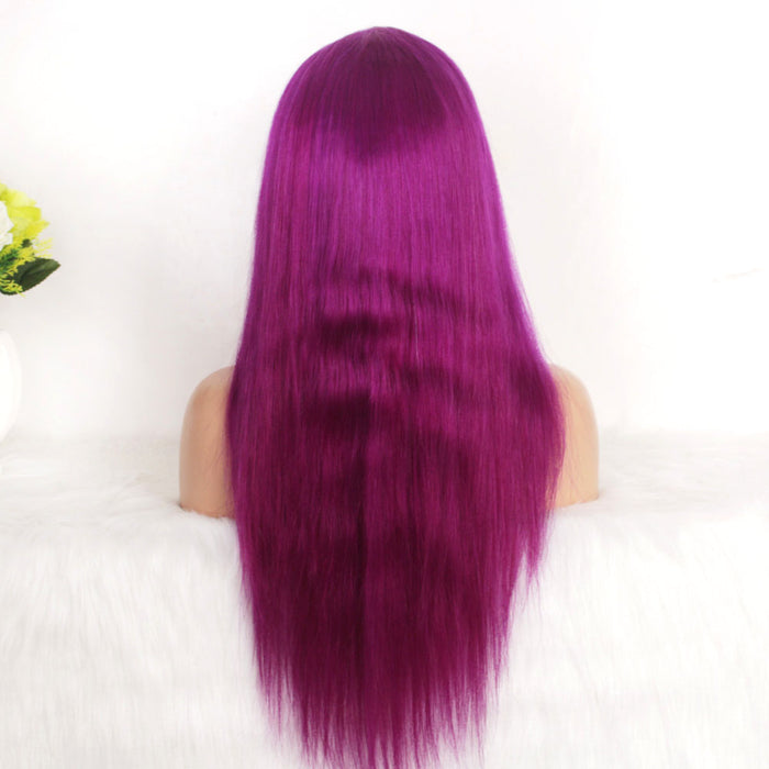 quality Grape purple human hair lace wig online