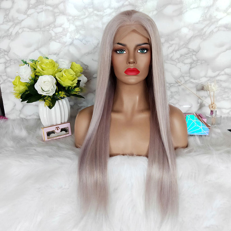 grey color human hair wigs