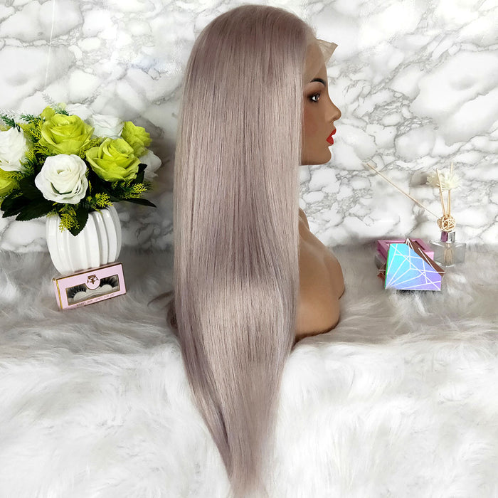 grey color brazilian hair wig for black women