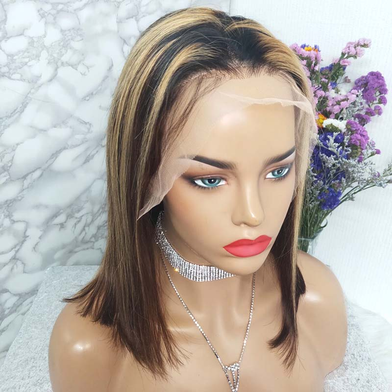 high tlight mix color lace frontal wig
