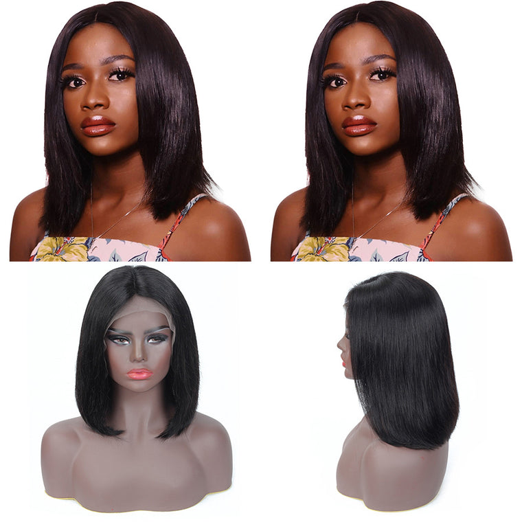 Short Brazilian Hair Lace frontal Bob Wigs with Baby Hair Surprisehair