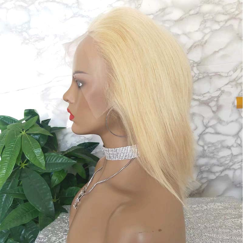 human hair blonde hair lace wig for african amerian