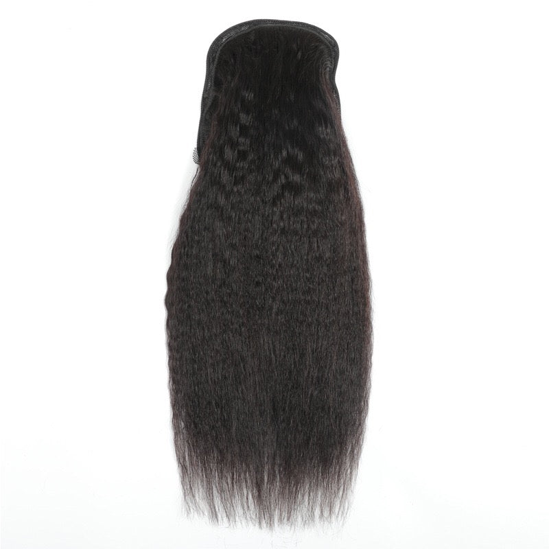 humanhair kinky straight ponytail for black women