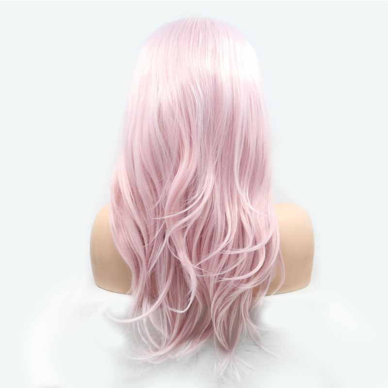 Pink Lace Front Wigs Synthetic
