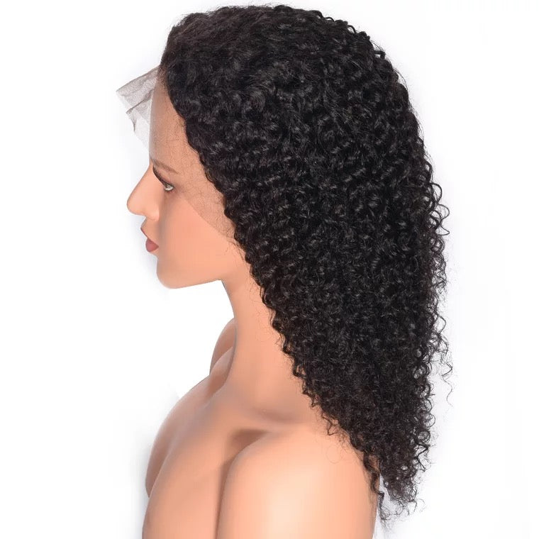 SurpriseHair Best Kinky Curly Full Lace Wig Peruvian Virgin Hair High Quality
