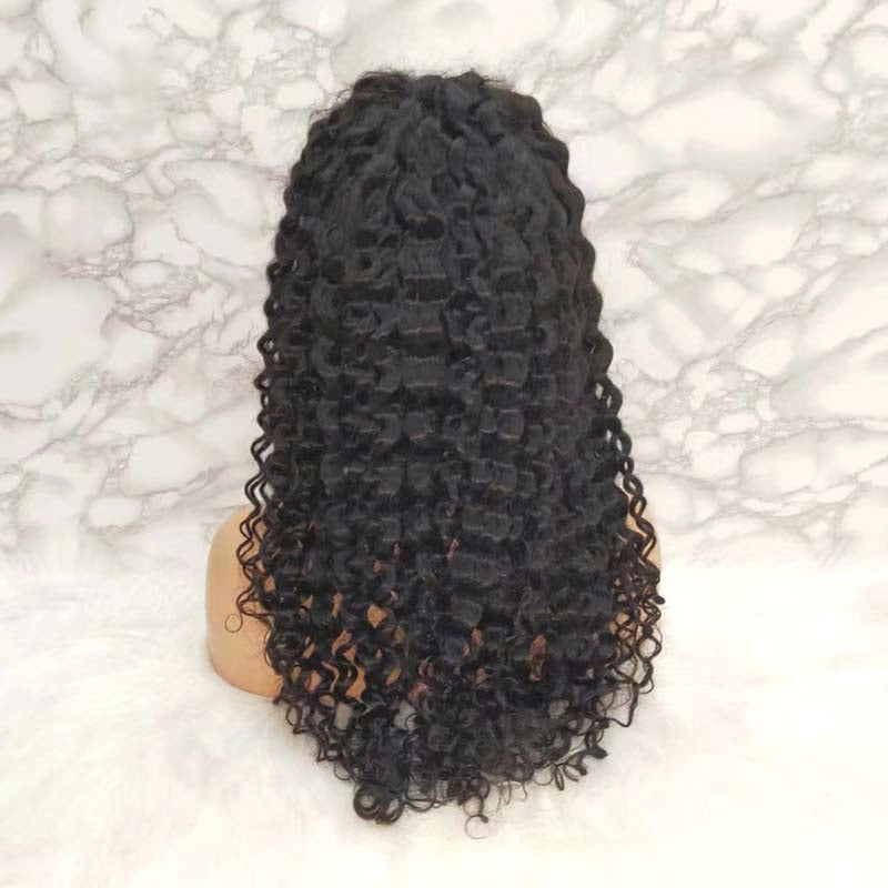 lace frontal wig brazilian hair deep wave