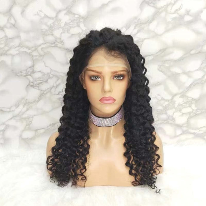 lace frontal wig human hair deep wave