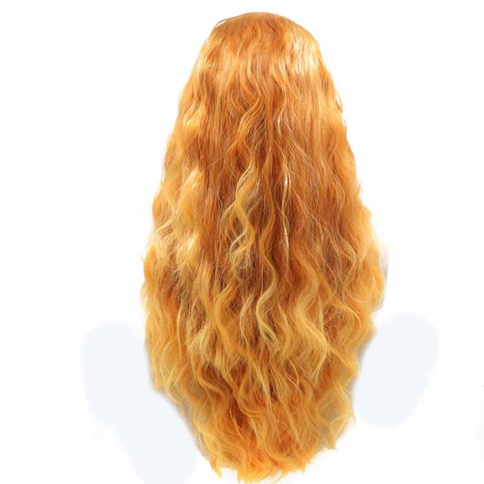 Bright Orange Synthetic Wig