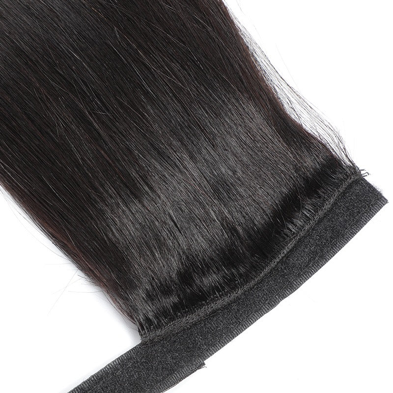 long straight human hair ponytail