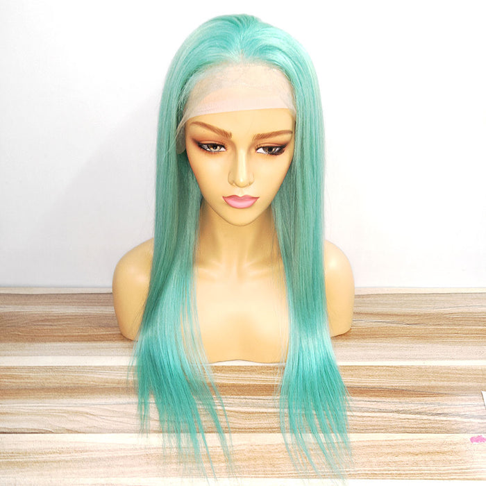 Mint Green Color lace frontal wig