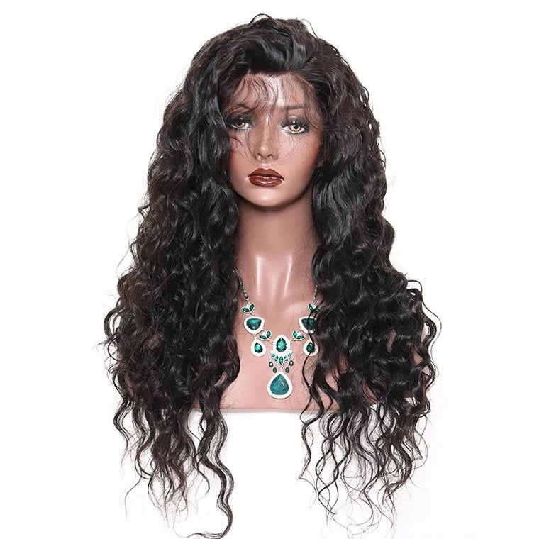 SurpriseHair Brazilian Natural Wave Full Lace Wig 130% Density Human Hair Wig for Black Women