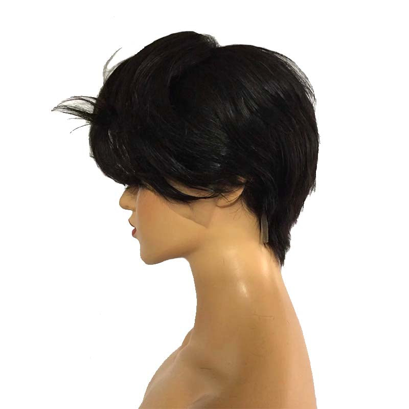 natural wave pixie cut wig human hair