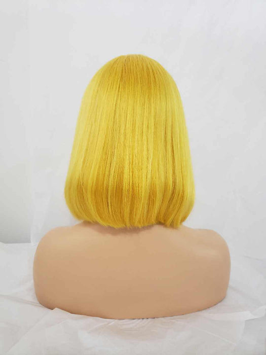 yellow ombre human hair wigs