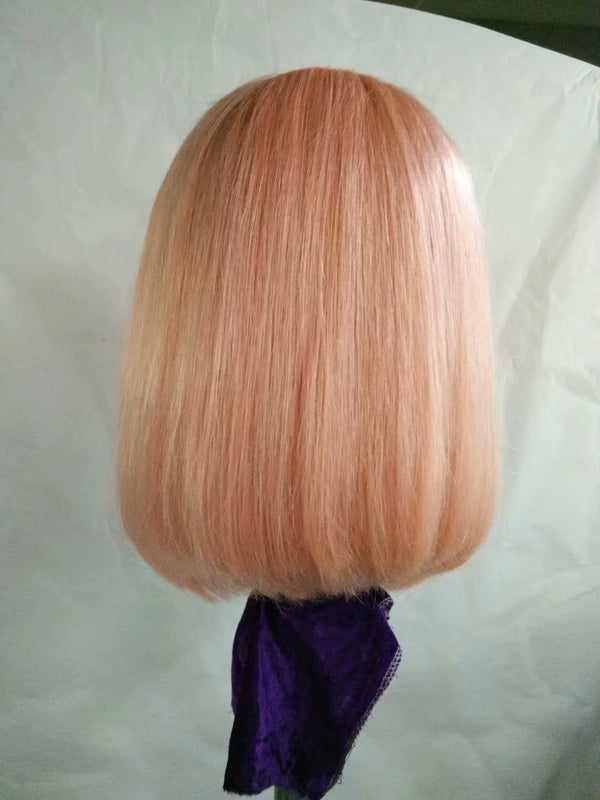 pink ombre lace front wig with baby hair