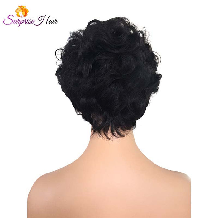 Short curly Pixie Cut Lace Wig wave
