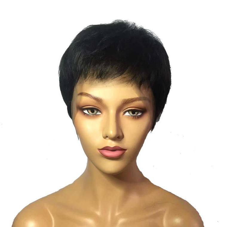 straight pixie cut wig for black women