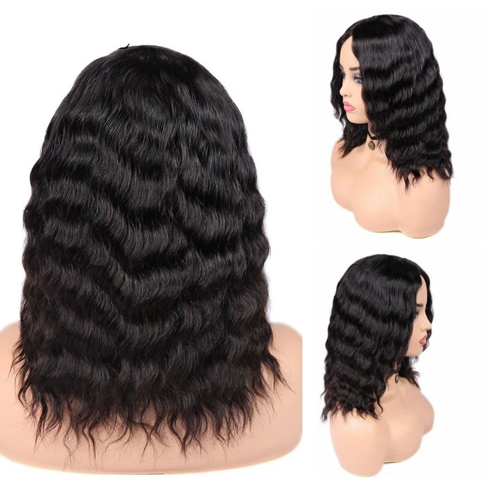 loose deep wave bob wig for african american