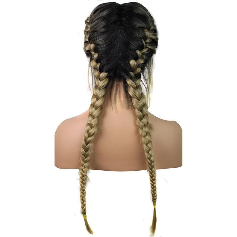 Ombre Blonde Box Braided Lace Wig