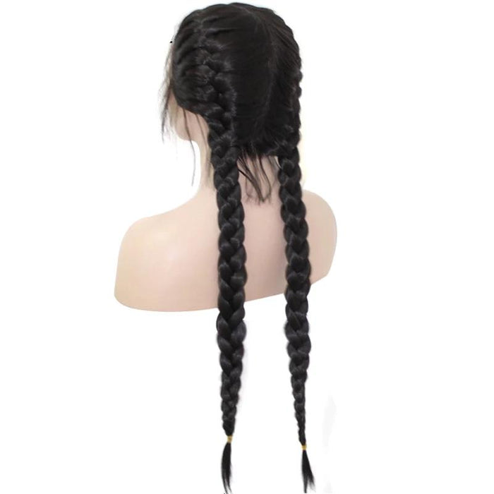 13x4 Long Double Braids Lace Wig