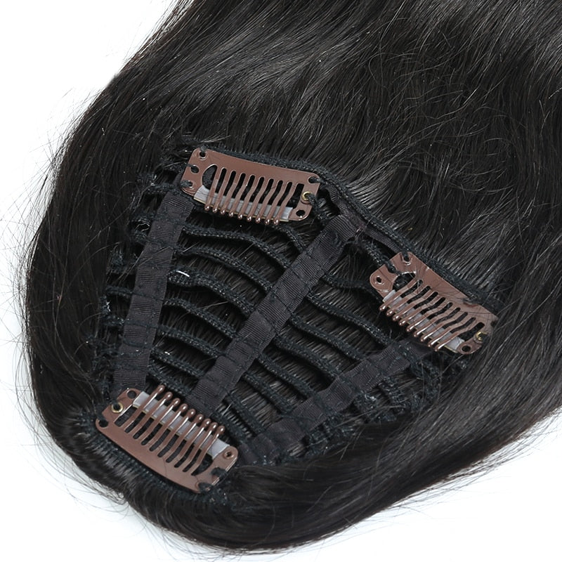100% Brazilian human Hair Bangs Clip In