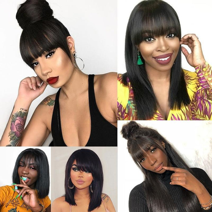 short Human Hair Bangs Clip In 100% Virgin Hair