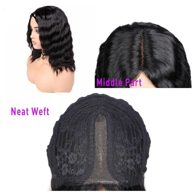 loose deep wave bob wig human hair for black women