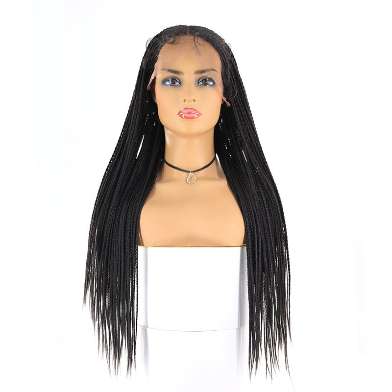 Black color 13x6 Lace Front Box braided Wigs