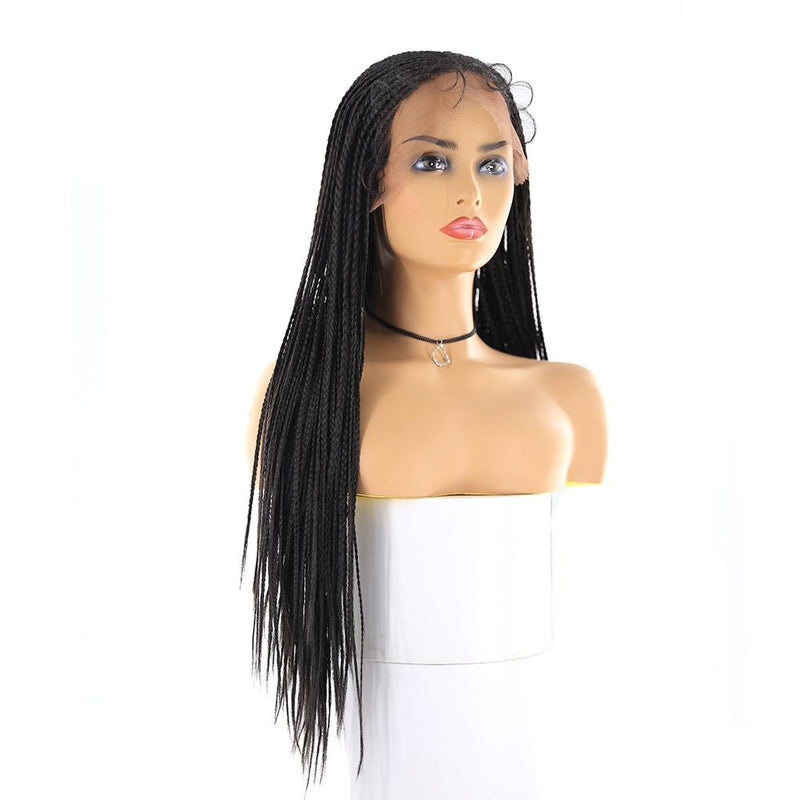 Lace Front Box braided Wigs synthetic hair