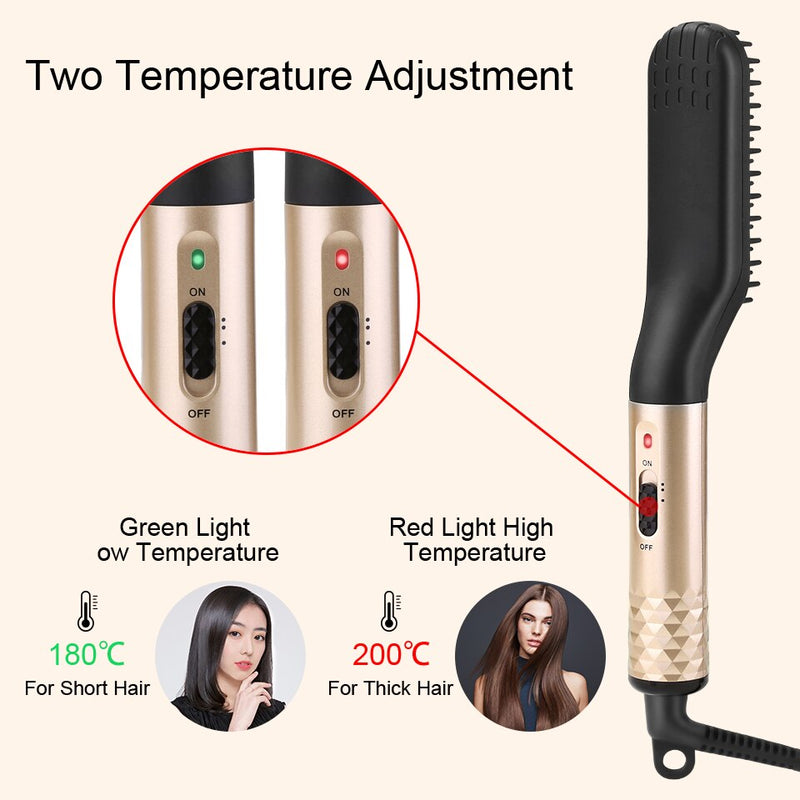 Hair Straightener Comb Electric Heated Straight Hair Brush Surprisehair