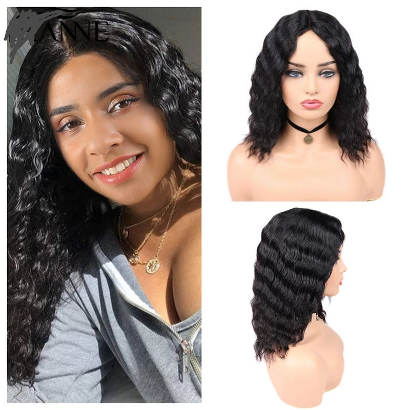 loose deep wave wig 12 inch