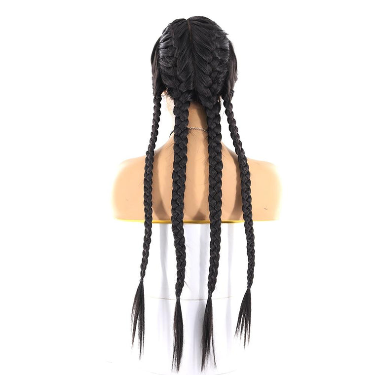 Synthetic Braided  Lace Wigs For Black Women