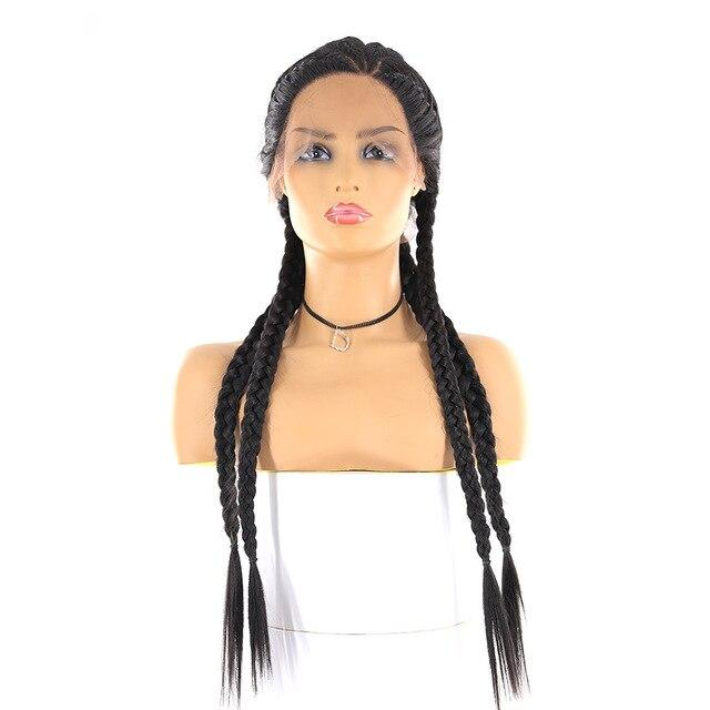 Synthetic Long Braided  Lace Front Wigs For Black Women Surprisehair