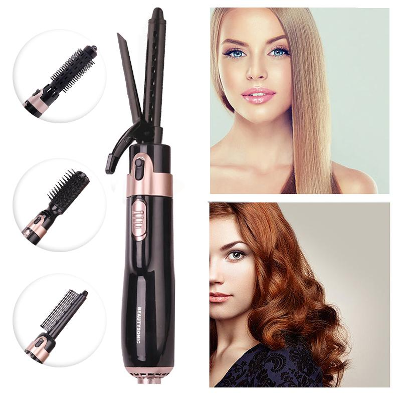 4 in 1 Hair Dryer Brush Electric Hair Straightener Curler Brush Surprisehair